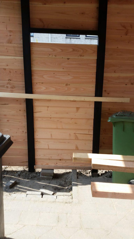 Timmerwerk overkapping in de tuin